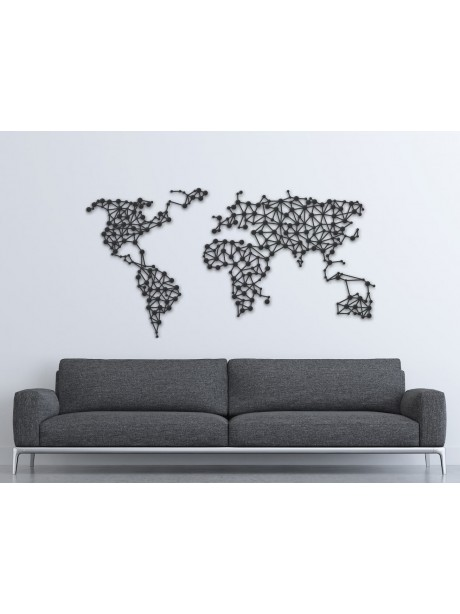 Metal World Map Wall Art