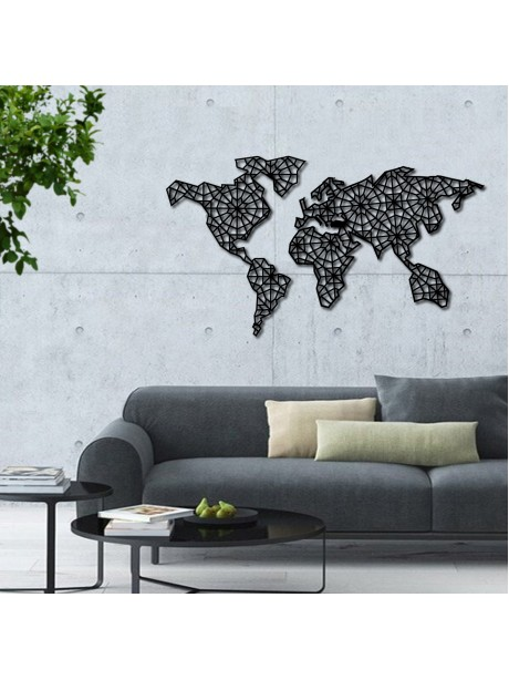 Very Embroidered Metal World Map