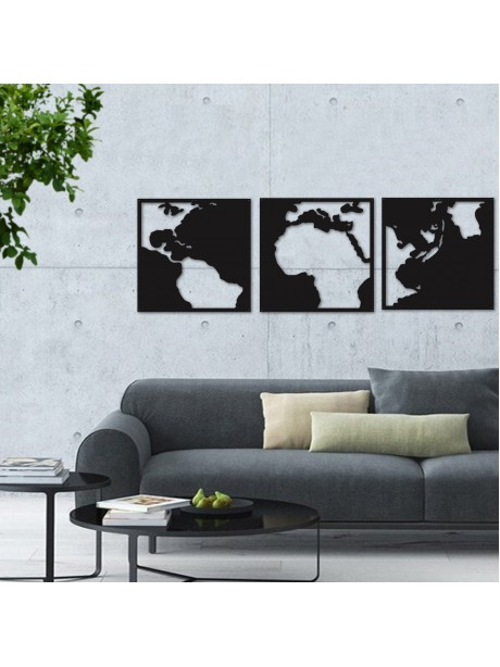 3 frames  world map