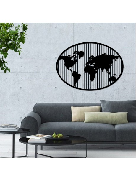 Ellipse Metal world map