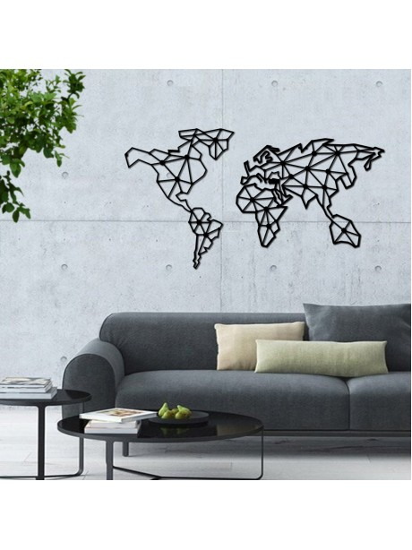 Metal World Map For Wall Decor