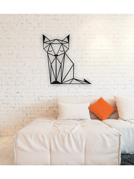 Line Wall Art Fox Metal Decor Portrait