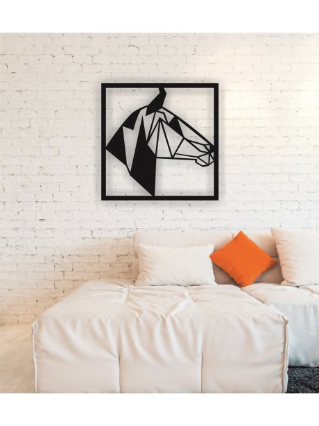Metal Animal Figur Horse Head Wall Art Decor Portraits