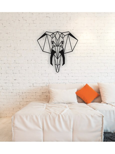 Metal Elephant Head Wall Art Decor Portrait