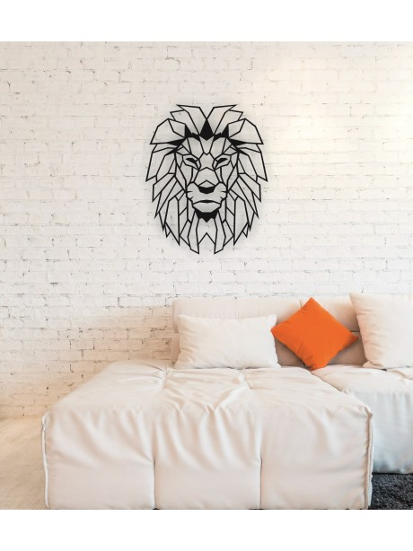 Metal Lion Wall Art Decor Portrait