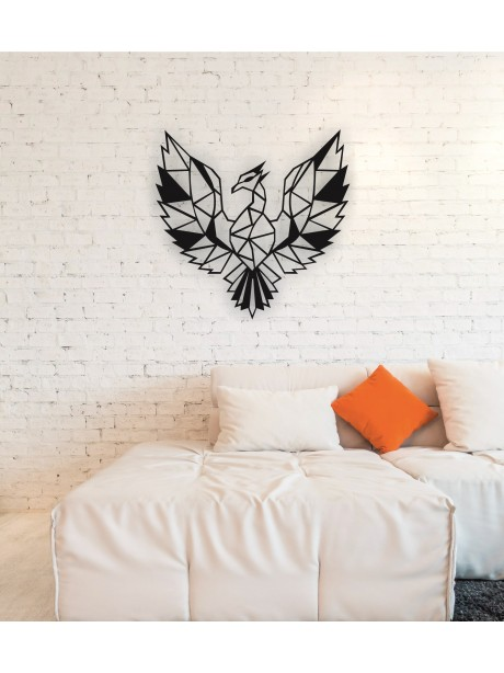 Metal Phoenix Wall Art Decor Portrait