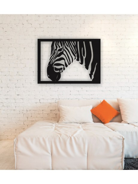 Zebra Metal Wall Art Decor Portrait