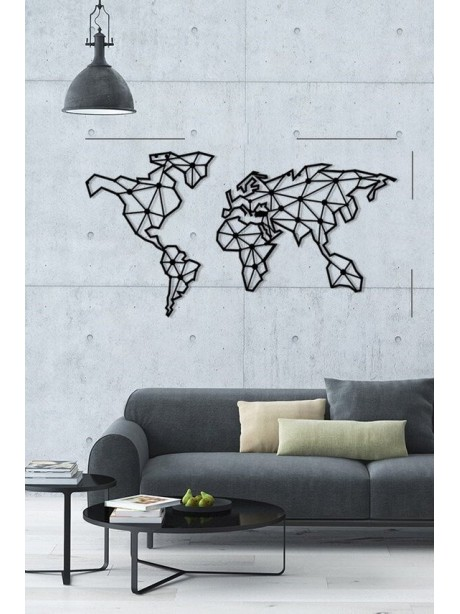 Indoor Decorative Metal Wall Art World Map