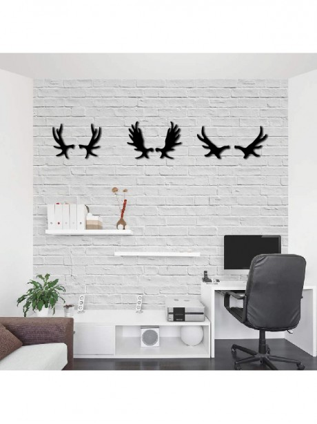 Linewallart Antler Metal Portrait For Wall