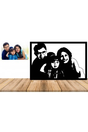 Personalised Custom Family Metal Wall Art Portrait