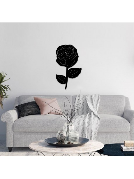 Line Wall Art Metal Flower Decorative Hangable Item