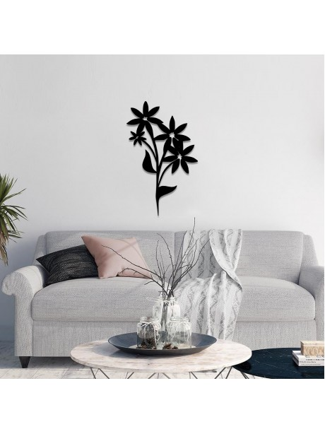 Line Wall art Of Black Metal Wall Decor Flower
