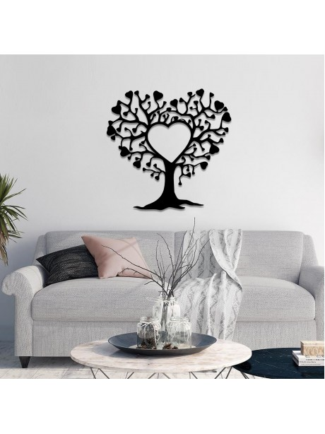 Line Wall Art Tree Of Love Metal Hanging Portrait