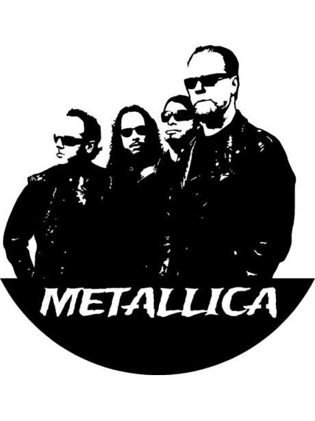 Line Wall Art Metallica Wall Hanging Decor Portrait