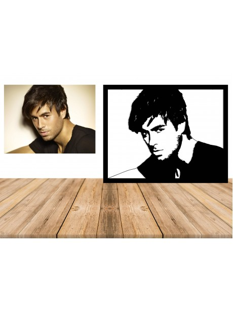 Enrique Iglesias metal wall portrait