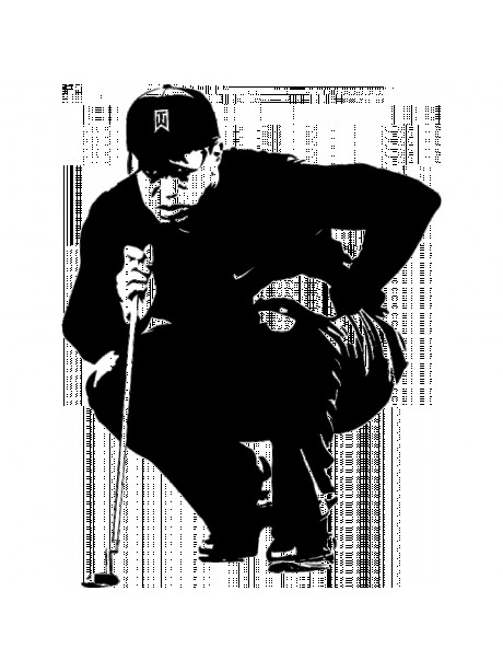 Line Wall  Art Tiger Woods Wall Hanging Portrait