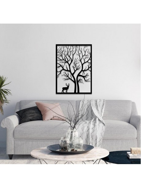 Line Wall Art Metal Tree Of Life Wall Decorative Portrait