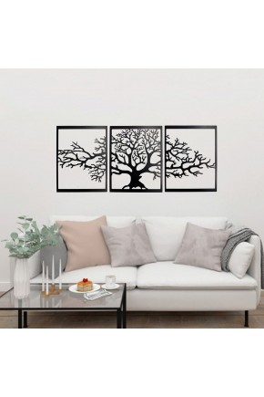 3 Pieces Tree Large Metal Wall Art