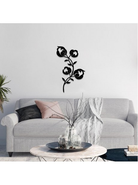 Line Wall Art Metal Flowers Wall Hanging Decorative Portrait